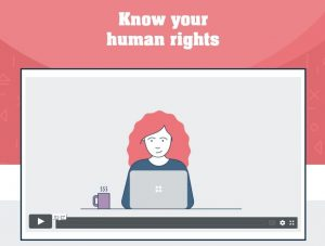 Using my human rights icon
